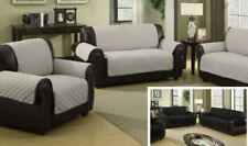"NEW Wexley Home Reversible Furniture Protector Sofa Cover Black/Silver 75""x 114"""