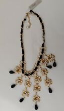 M. HASKELL Necklace Gold Black Pearl Statement Fashion Jewelry NEW