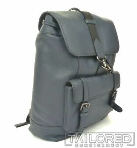 NEW - COACH Bleecker Blue Pebble Leather Luxury Backpack 29523