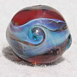 FANCY THAT! Handmade Art Glass Focal Bead Flaming Fools Lampwork Art Glass SRA