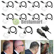 10x 2 Pin Headset Mic Covert Acoustic Tube Earpiece For Motorola Radio Security