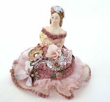 Katherine's Collection Victorian Half Doll Pink Decorative Ceramic Trinket Box