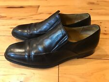 Massimo Emporio Mens Black  Leather  Loafers Size 9.5 M