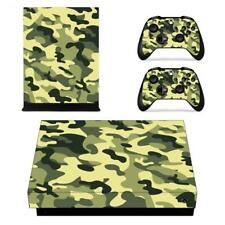Army Camouflage Camo Xbox one X Console Vinyl Skin Decal Sticker Covers Set