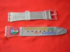 SWATCH CINTURINO x OLYMPIC RUN AFTER ITALY - GK419K - 2000 - NUOVO  strap band