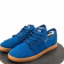 Supra Stack Tk Society Mens Shoes Skate Casual Low Sneakers Navy Blue Size 14
