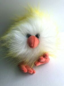 """Jellycat Yellow and White Crazy Chick Chicken Small Plush Animal 5"""" 12mo+"""