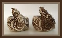 Vintage Shawnee Pottery Planters - Set Of 2 - Birds - USA
