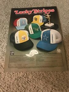 AJD ADJUSTABLE MESH HAT Print Ad 1979 PITTSBURGH STEELERS SUPER BOWL CHAMPS 70s