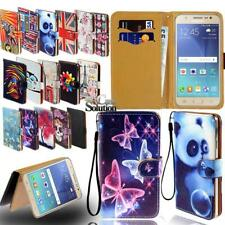 Flip Leather Wallet Stand Cover Phone Case For Samsung Galaxy Smartphones +Strap