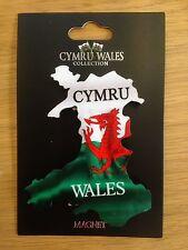 CYMRU/WALES/DRAGON  design FRIDGE MAGNET in the shape of WALES , Cymru, Welsh