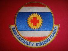 Vietnam War Patch Usaf 24th Casualty Staging Flight - Korat Airbase In Thailand