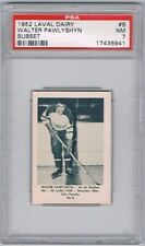 1952 Laval Dairy Subset Hockey Card Quebec Aces #8 Walter Pawlyshyn Graded PSA 7