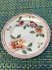 "RICHARD GINORI PEONY FLOWER 3 3/4"" BUTTER PAT DISH FROM GUMPS MADE IN ITALY"