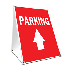 A-frame Sidewalk Sign Parking With Up Arrow Double Sided Graphics
