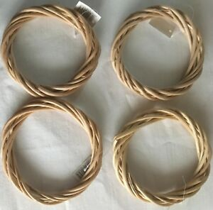 """Wicker / Willow Wreath Light Willow Rings- 6""""(15cm) dia.-Pack of 4"""