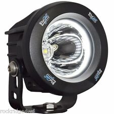 Vision X Optimus Round HALO LED Light 15 Degree Black *SINGLE* Driving Fog 4x4