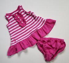 Baby Girls Ralph Lauren Dress Pink Size 3 Months White Striped Sleeveless