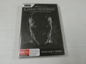 Game Of Thrones : Season 7 (DVD, Region 4, 5-Disc Set)New & Sealed,  LHA10