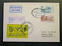 Germany DDR 1957 Zwickau - Karl Marx - Stadt Flight Cover - Z4711
