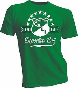 Deportivo Cali de Colombia Football Soccer Camiseta T Shirt Postobon handmade