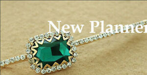 Women Fashion Crystal Hair Clip Green Color For 6 pcs
