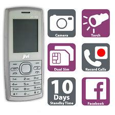 BIANCO a basso costo Mobile Telefono-DUAL SIM CARD-registrazione chiamate-radio-MP3-Sbloccato