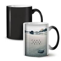 Keep Calm Ocean Nature NEW Colour Changing Tea Coffee Mug 11 oz | Wellcoda