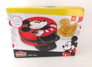 NIB Disney Red DCM-12 Mickey Mouse (shaped) Waffle Maker