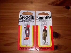 (2) Luhr Jensen Krocodile Trolling Jigging Ice Fishing Trout Spoon jig 1/6 oz