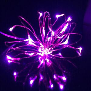 20/30LED Lichterkette Batterie Micro Draht Außen Weihanchten Beleuchtung Dekor
