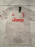 adidas Juventus 19/20 Away Jersey DW5461 Men's Size S Raw White/Red Orange
