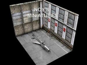 Noy's Miniatures 1/48 Airfield Tarmac Sheet:Soviet Fighter Hangar Set (3 sheets)