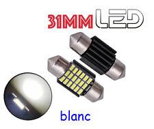 1 Ampoule navette c3w 31 mm 31mm 18 LED SMD Blanc résistance anti erreur  ODB