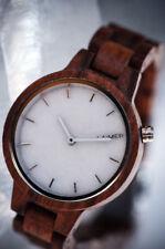 LAiMER Holzuhr MARMO Rose - Damen Armbanduhr 100% Sandelholz & Marmor , Südtirol