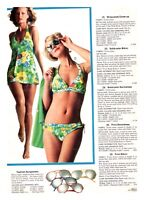 70'S SWIM SUITS CATALOG AD  PAPER PRINT AD CLIPPINGS VINTAGE