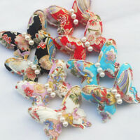 New 16pcs Big Felt Padded Flower Butterfly With Ball Craft Appliques 65mm