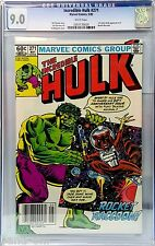 HULK #271 CGC 9.0 1ST ROCKET RACCOON GUARDIANS OF THE GALAXY WHITE PAGES WOW!!