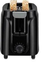 2 Slice Compact Black Toaster - Waffle Toaster Bread Two Slice Bagel Free ship