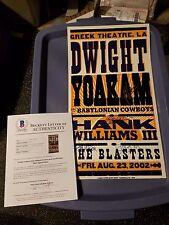 DWIGHT YOAKAM HANK WILLIAMS III THE BLASTERS SIGNED HATCH CONCERT POSTER BECKETT