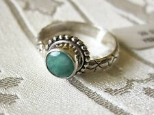 Artisan Designed Emerald Ring, 925 Sterling Silver size 8 --- 0.75cts, 4g