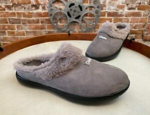 Tony Little Cheeks Grey Fit Body Incline Mule Slippers New