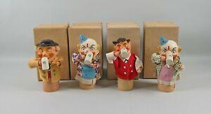 4 Vintage Franz Trimborn Composition Beer Drinking Dolls Hofbrauhaus Germany