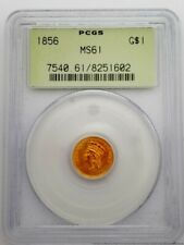 1856 PCGS MS61 Indian Princess $1.00 American Gold Coin