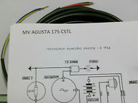 IMPIANTO ELETTRICO ELECTRICAL WIRING MOTO MV AGUSTA CSTL 175 +  SCHEMA ELETTRICO