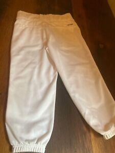 Boys Size Small Adidas White Baseball Pants NEW