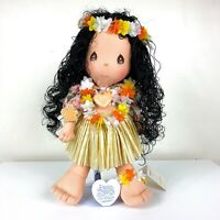 "Precious Moments Hawaii The World's Children Lulu Doll NWT 14"" collectible"
