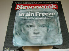 Newsweek Magazine March 7, 2011 Brain Freeze Analysis Paralyis Issue