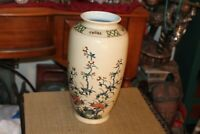 Chinese Asian Porcelain Pottery Vase Flowers Branches Large Size Vase