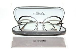 NEW SILHOUETTE ACCENT RINGS 5500 IF 7630 BLACK AUTHENTIC TITAN EYEGLASSES 55-17